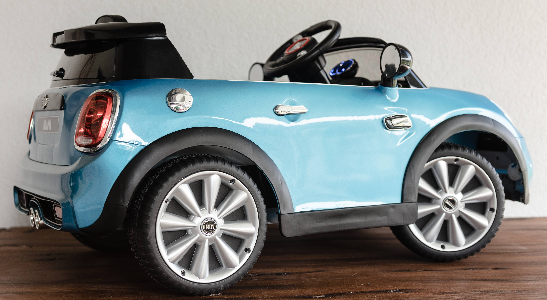 12v mini cooper s kinder elektro auto blau kinderauto. Black Bedroom Furniture Sets. Home Design Ideas