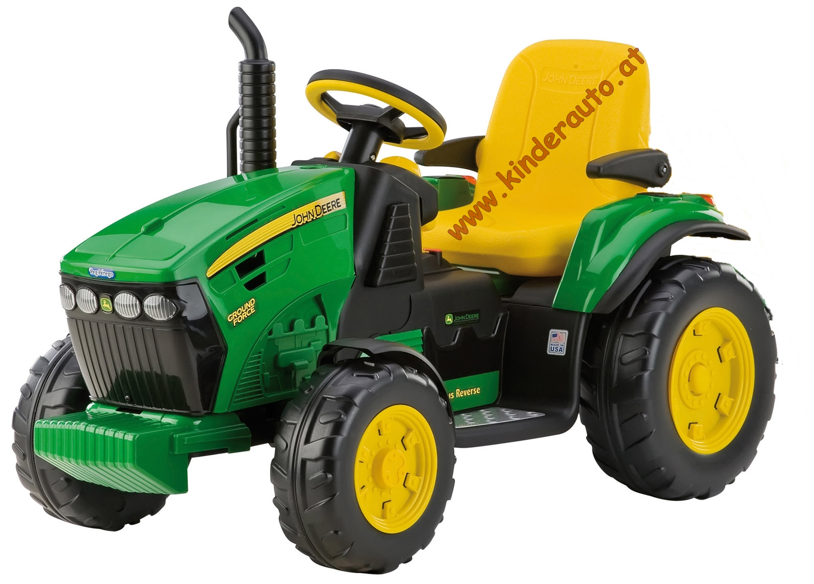 12v peg perego john deere ground force elektro traktor billiger ohne anh nger kinderauto. Black Bedroom Furniture Sets. Home Design Ideas